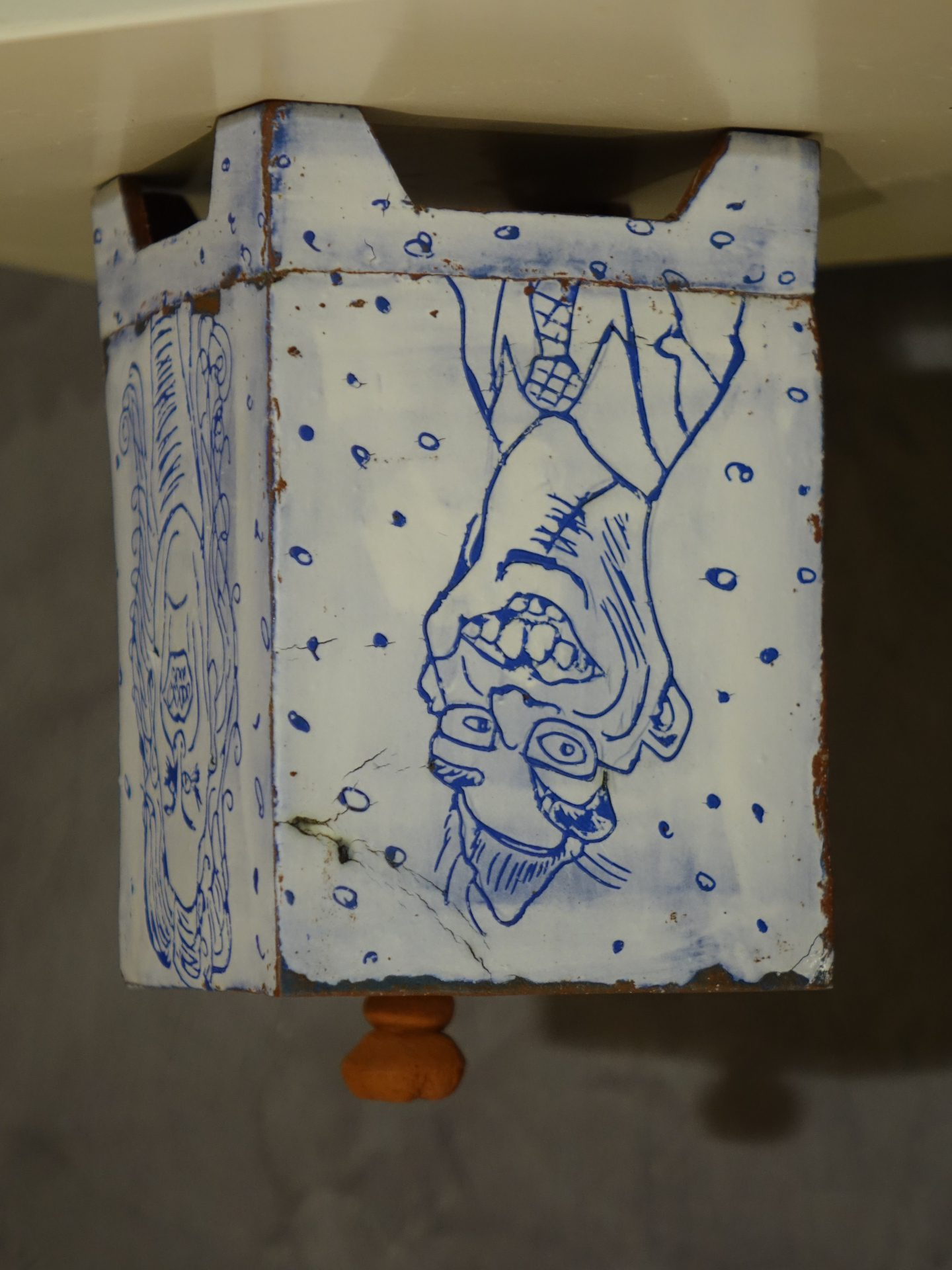 Dose Keramik Karikatur