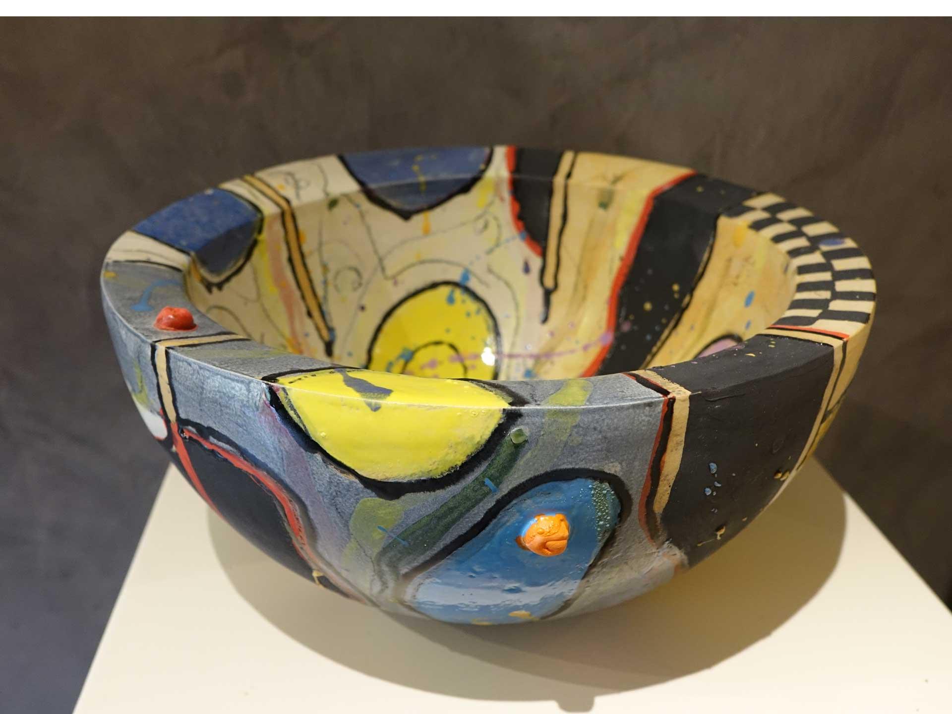 Schale Keramik glasiert